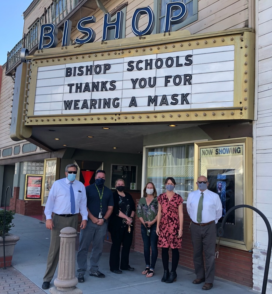 Bishop Schools thanks you for wearing a mask